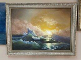 """Картины, постеры, гобелены, панно - картина маслом """"Волнение моря"""", 0"""