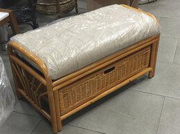 Банкетки и скамьи - Банкетка с ящиком ротанг натуральный, 0