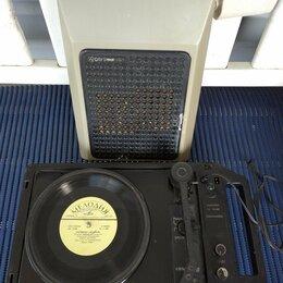 Проигрыватели виниловых дисков - Электрофон Спутник 304 80-е годы СССР, 0