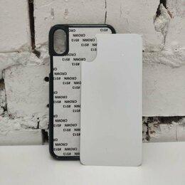 Чехлы - Чехол пластмассовый с алюминиевой вставкой для печати I PHONE X, 0