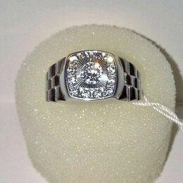 Кольца и перстни - Перстень печатка кольцо серебряное 925пр. с яркими фианитами, квадратный, НОВОЕ., 0