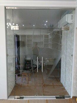 Межкомнатные двери - Двери стеклянные книжка, двери распашные, 0