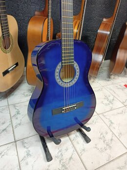 Акустические и классические гитары - Классическая гитара 4/4 Синяя Новая, 0