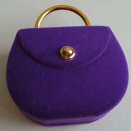 Подставки и держатели - Футляр для украшений подарочный фиолетовый, 0