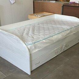 Кровати - Кровать белая с ящиками, 0