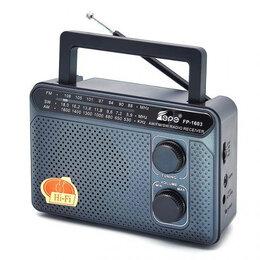 Музыкальные центры,  магнитофоны, магнитолы - Радиоприемник сетевой Fepe FP-1603 Подарок, 0