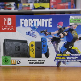 Игровые приставки - Nintendo Switch Особое издание Fortnite (Без ваучера), 0