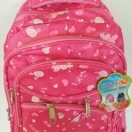 Рюкзаки, ранцы, сумки - Рюкзак школьный арт 150 LOVE влюбленные зайчики светло-розовый /50, 0