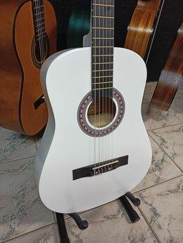 Акустические и классические гитары - Классическая гитара с анкером Белая Новая 7/8, 0