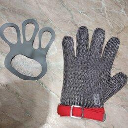 Рукавицы, прихватки, фартуки - Новая кольчужная перчатка + натяжитель и х/б перчатки в подарок, 0