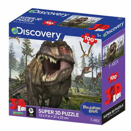 Пазлы - 3D пазл 100 элементов «Тираннозавр», 0