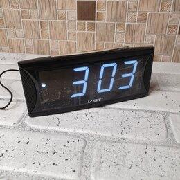 Часы настольные и каминные - Часы электронные  USB  719-6 (Белые цифры), 0