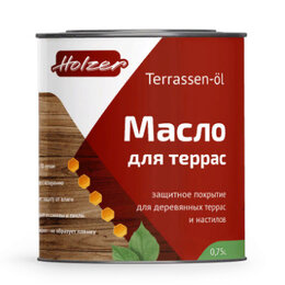 Масла и воск - Масло для древесины Хольцер TERRASSEN OL, 0