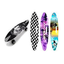 """Скейтборды и лонгборды - Скейтборд пластик с ручкой, свет., 24"""" (60*17*10,5 см), 0"""