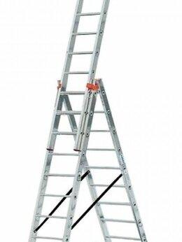 Лестницы и стремянки - Лестница алюминиевая 3-х секционная 3х9 (5,96м), 0