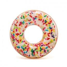 """Круги и матрасы  - Надувной круг """"Пончик с карамелью"""" 114см, 0"""