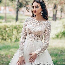 Платья - Закрытое свадебное платье Валентина размер 42-44, 0