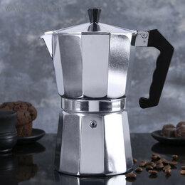 Кофеварки и кофемашины - Кофеварка гейзерная, на 9 чашек литой алюминий, 0