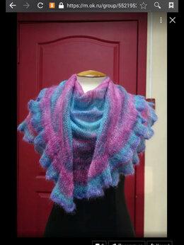Шарфы и платки - Шаль-фишю из мохера на шёлке, мини шаль, 0