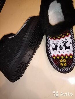 Домашняя обувь - Тапочки/бабуши осень/зима дом/улица мех, 0