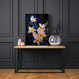 """Картины, постеры, гобелены, панно - """"Цветы Франжипани(Плюмерия)"""", 0"""