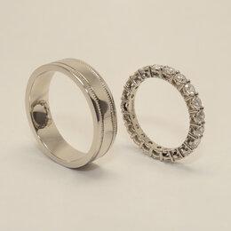 Кольца и перстни - Обручальные кольца из платины с бриллиантами., 0