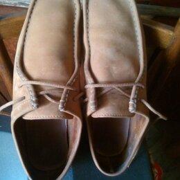 Туфли - Туфли нубук CLARKS в отличном состоянии 46 р., 0