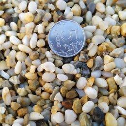 Строительные смеси и сыпучие материалы - Галька речная морская для ландшафта дорожек валуны, 0