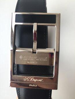 Ремни и пояса - Ремень Dupont Франция мужской черный кожа металл…, 0