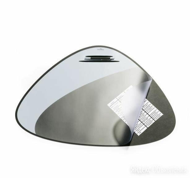 Покрытие на стол DURABLE треугольн черное с серым,прозрачный лист  7208-01 по цене 1454₽ - Строительные смеси и сыпучие материалы, фото 0