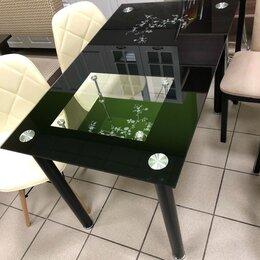 Мебель для кухни - Стол Стеклянный чёрный, новый , 0