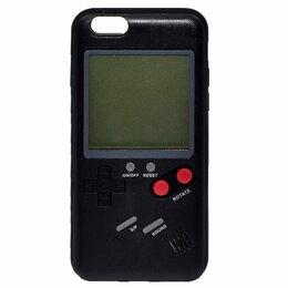 """Чехлы - Чехол Apple iPhone 6/6S """"Тетрис"""" пластик черный, 0"""