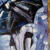 Картина маслом Незнакомка (девушка под зонтом) живопись мастихин по цене 8500₽ - Картины, постеры, гобелены, панно, фото 2