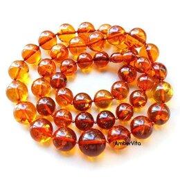 Колье и бусы - 💖 Бусы из янтаря, янтарные шары ожерелье, 0
