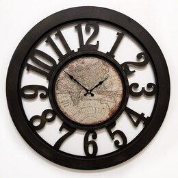 Часы настенные - Часы настенные коричневые Galaxy DA-004 Brown, 0