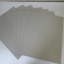 Рукоделие, поделки и сопутствующие товары - Картон переплетный серый 30х40 см 1,5 мм наборы, 0