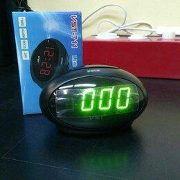 Часы настольные и каминные - VST 711-4 часы настольные с зелёными цифрами, 0