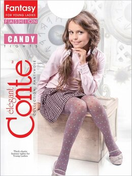Колготки - 12с-40сп_146-152_Conte Candy pink-grafit колготки, 0