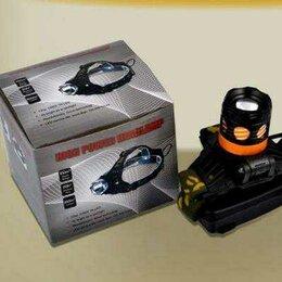 Фонари - Мощный яркий налобный фонарь с двумя светодиодами, 0