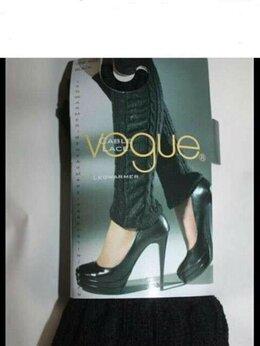 Колготки и носки - Гетры новые Voque черные вязаные кружева гипюр…, 0