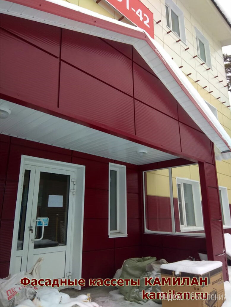 Кассета фасадная КФ-7 (0,7мм) 565 х 565/ 1130 по цене 1320₽ - Фасадные панели, фото 0