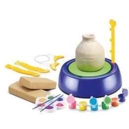Лепка - Детский Гончарный круг с глиной и красками, 0
