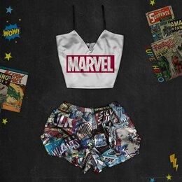Домашняя одежда - Шелковая пижама с принтом Марвел (размер S), 0