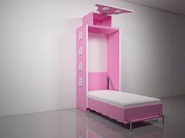 Кроватки - Подъемная откидная шкаф кровать домик детская Д-8, 0