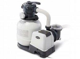 Фильтры, насосы и хлоргенераторы - 26646 Intex Песочный фильтр-насос 7.9м3/ч,…, 0
