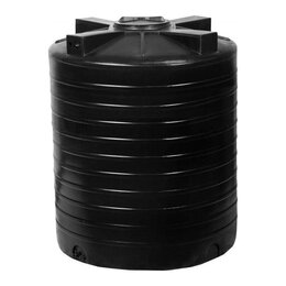 Баки - Емкость пластиковая для воды ATV 2000 литров черная (доставка по городу, 2 куба), 0