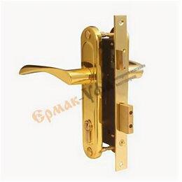 Замки - Замок врезной Apecs 1223/60-G Золото,межосевое 70 мм (цилиндр.,англ.ключ), 0