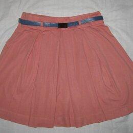 Юбки - Расклешенная юбка р.44-46, ремень в подарок, 0
