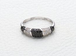 Кольца и перстни - Кольцо с 70 бриллиантами из белого золота, 0