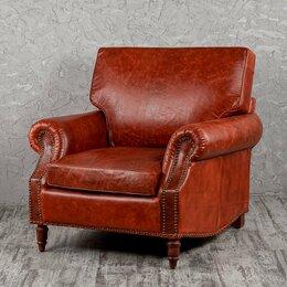 Кресла - Кресло с мягкими подлокотниками коричневое…, 0